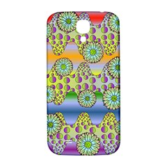 Amoeba Flowers Samsung Galaxy S4 I9500/i9505  Hardshell Back Case by CosmicEsoteric
