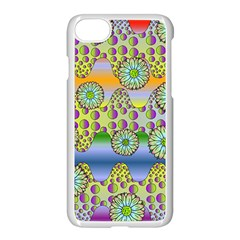 Amoeba Flowers Apple Iphone 8 Seamless Case (white) by CosmicEsoteric