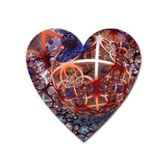 Complexity Chaos Structure Heart Magnet by Onesevenart