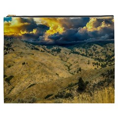 Hills Countryside Landscape Nature Cosmetic Bag (xxxl)  by Onesevenart