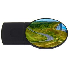 Cliff Coast Road Landscape Travel Usb Flash Drive Oval (4 Gb) by Onesevenart