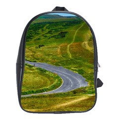 Cliff Coast Road Landscape Travel School Bag (xl) by Onesevenart