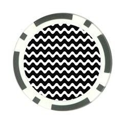 Wave Pattern Wavy Halftone Poker Chip Card Guard by Celenk