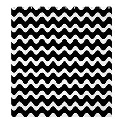 Wave Pattern Wavy Halftone Shower Curtain 66  X 72  (large)  by Celenk