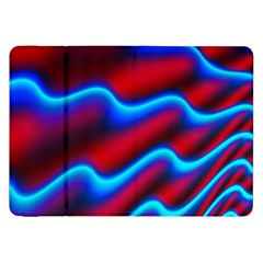 Wave Pattern Background Curve Samsung Galaxy Tab 8 9  P7300 Flip Case by Celenk