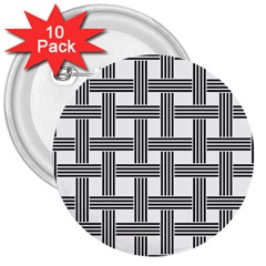 Seamless Stripe Pattern Lines 3  Buttons (10 Pack)
