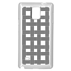 Seamless Stripe Pattern Lines Samsung Galaxy Note 4 Case (white) by Celenk