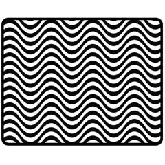 Wave Pattern Wavy Water Seamless Fleece Blanket (medium)  by Celenk
