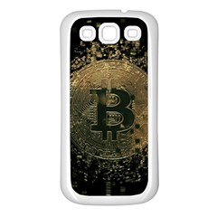 Bitcoin Cryptocurrency Blockchain Samsung Galaxy S3 Back Case (white) by Celenk