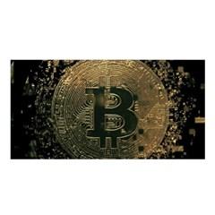 Bitcoin Cryptocurrency Blockchain Satin Shawl by Celenk