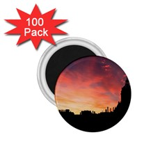 Sunset Silhouette Sun Sky Evening 1 75  Magnets (100 Pack)
