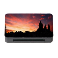 Sunset Silhouette Sun Sky Evening Memory Card Reader With Cf by Celenk