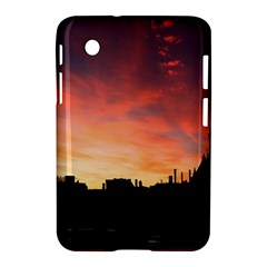 Sunset Silhouette Sun Sky Evening Samsung Galaxy Tab 2 (7 ) P3100 Hardshell Case  by Celenk