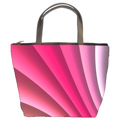 Wave Pattern Structure Texture Colorful Abstract Bucket Bags by Celenk