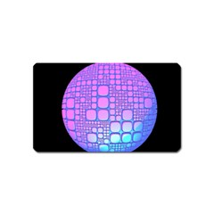 Sphere 3d Futuristic Geometric Magnet (name Card) by Celenk