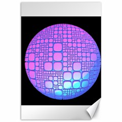 Sphere 3d Futuristic Geometric Canvas 12  X 18   by Celenk