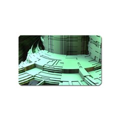 Futuristic Urban Architecture Magnet (name Card) by Celenk