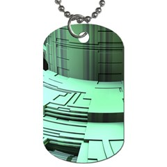 Futuristic Urban Architecture Dog Tag (one Side) by Celenk