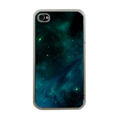 Green Space All Universe Cosmos Galaxy Apple Iphone 4 Case (clear) by Celenk