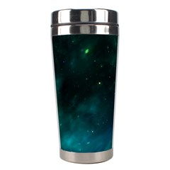 Green Space All Universe Cosmos Galaxy Stainless Steel Travel Tumblers by Celenk