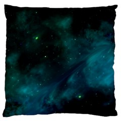 Green Space All Universe Cosmos Galaxy Standard Flano Cushion Case (two Sides)