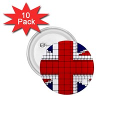 Union Jack Flag Uk Patriotic 1 75  Buttons (10 Pack) by Celenk