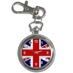 Union Jack Flag Uk Patriotic Key Chain Watches by Celenk