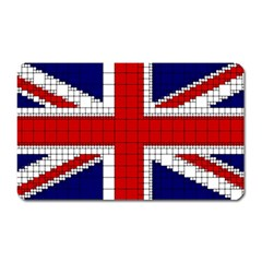 Union Jack Flag Uk Patriotic Magnet (rectangular) by Celenk
