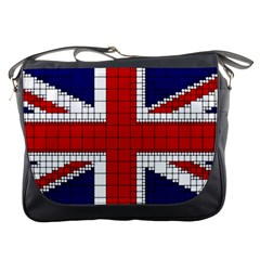 Union Jack Flag Uk Patriotic Messenger Bags by Celenk