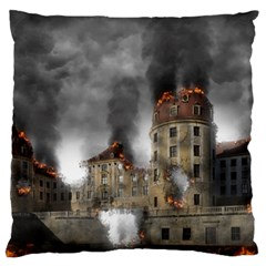 Destruction Apocalypse War Disaster Large Flano Cushion Case (one Side) by Celenk