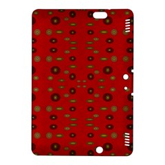 Brown Circle Pattern On Red Kindle Fire Hdx 8 9  Hardshell Case by BrightVibesDesign