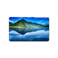 Mountain Water Landscape Nature Magnet (name Card) by Celenk