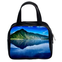 Mountain Water Landscape Nature Classic Handbags (2 Sides) by Celenk