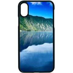 Mountain Water Landscape Nature Apple Iphone X Seamless Case (black)