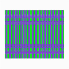 Bright Green Purple Stripes Pattern Small Glasses Cloth by BrightVibesDesign