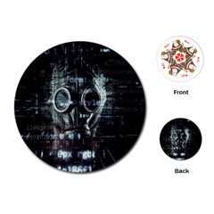 Gas Mask Contamination Contaminated Playing Cards (round)  by Celenk