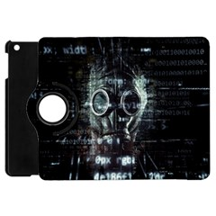 Gas Mask Contamination Contaminated Apple Ipad Mini Flip 360 Case by Celenk