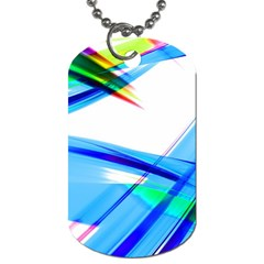 Lines Vibrations Wave Pattern Dog Tag (one Side) by Celenk