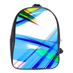 Lines Vibrations Wave Pattern School Bag (xl)