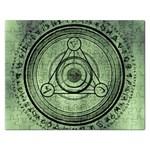 Rune Geometry Sacred Mystic Rectangular Jigsaw Puzzl Front