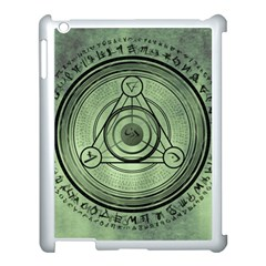 Rune Geometry Sacred Mystic Apple Ipad 3/4 Case (white) by Celenk