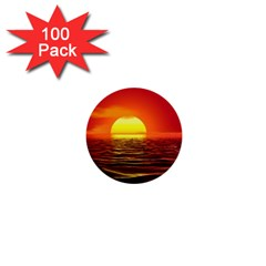Sunset Ocean Nature Sea Landscape 1  Mini Buttons (100 Pack)
