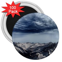Mountain Landscape Sky Snow 3  Magnets (100 Pack) by Celenk