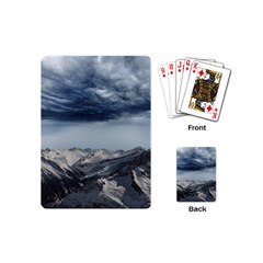 Mountain Landscape Sky Snow Playing Cards (mini)  by Celenk