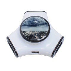 Mountain Landscape Sky Snow 3 Port Usb Hub by Celenk