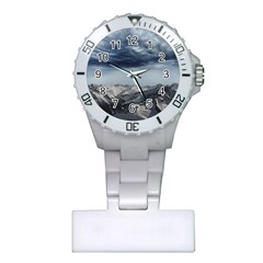 Mountain Landscape Sky Snow Plastic Nurses Watch by Celenk