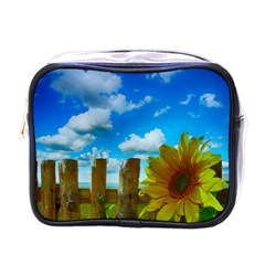 Sunflower Summer Sunny Nature Mini Toiletries Bags by Celenk