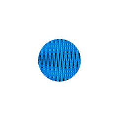 Sharp Blue And Black Wave Pattern 1  Mini Magnets