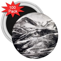 Mountains Winter Landscape Nature 3  Magnets (100 Pack) by Celenk