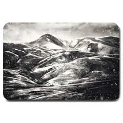 Mountains Winter Landscape Nature Large Doormat  by Celenk